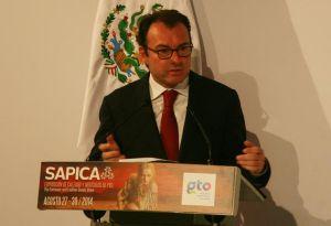 El secretario de Hacienda, Luis Videgaray en Sapica